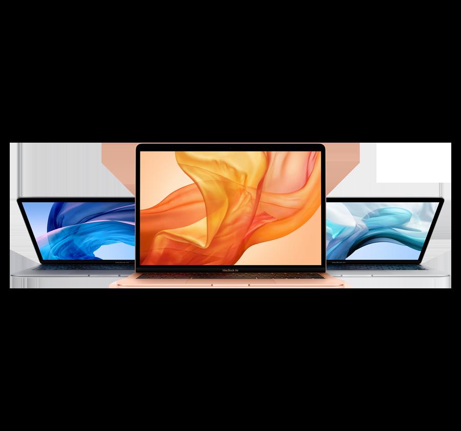 Bild på tre MacBook Air