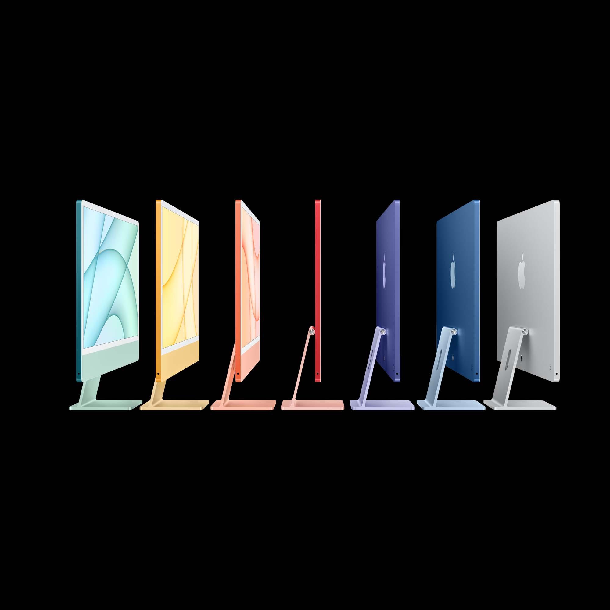 Bild på iMac 24 tum i olika färger