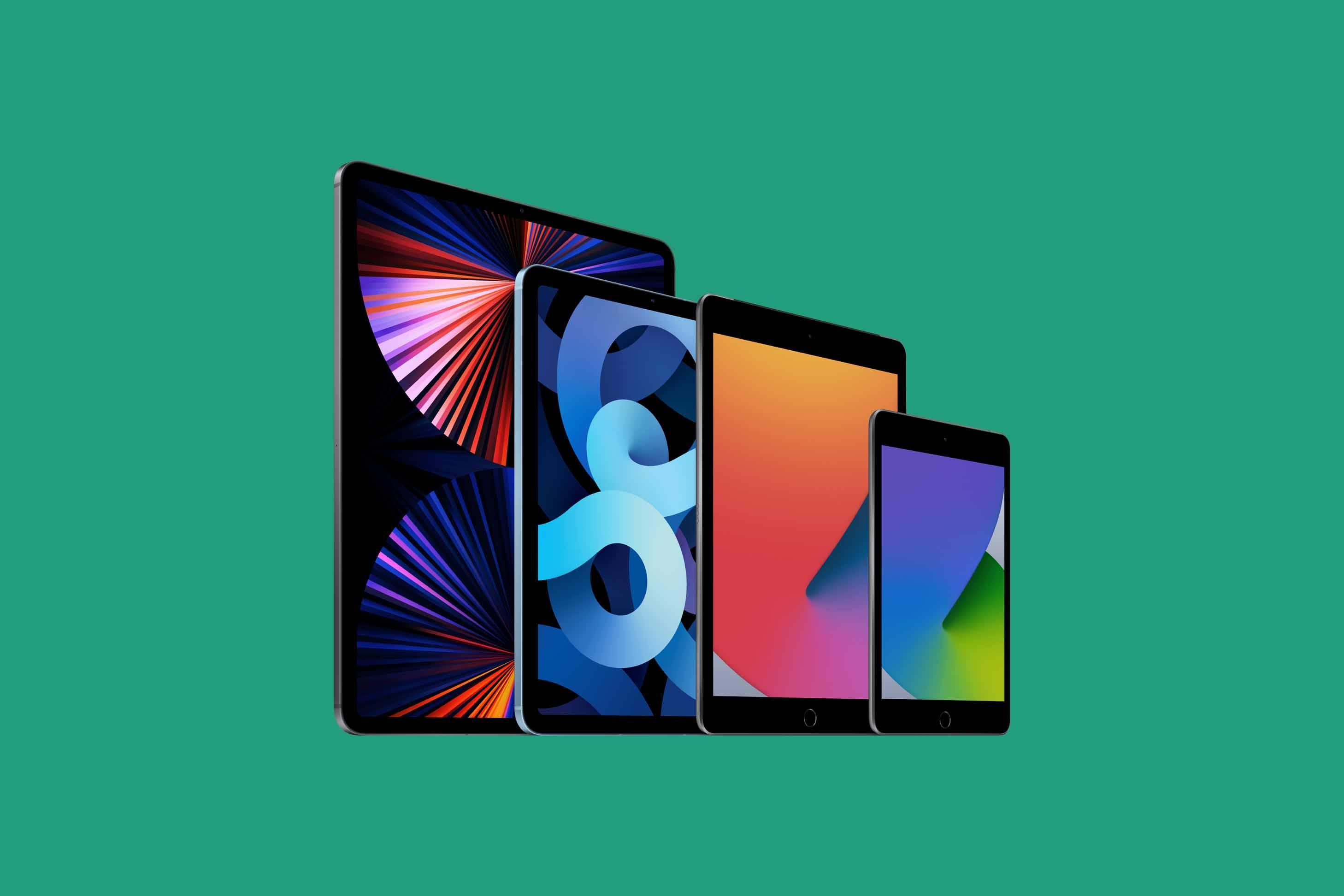 Bild på iPad-familjen