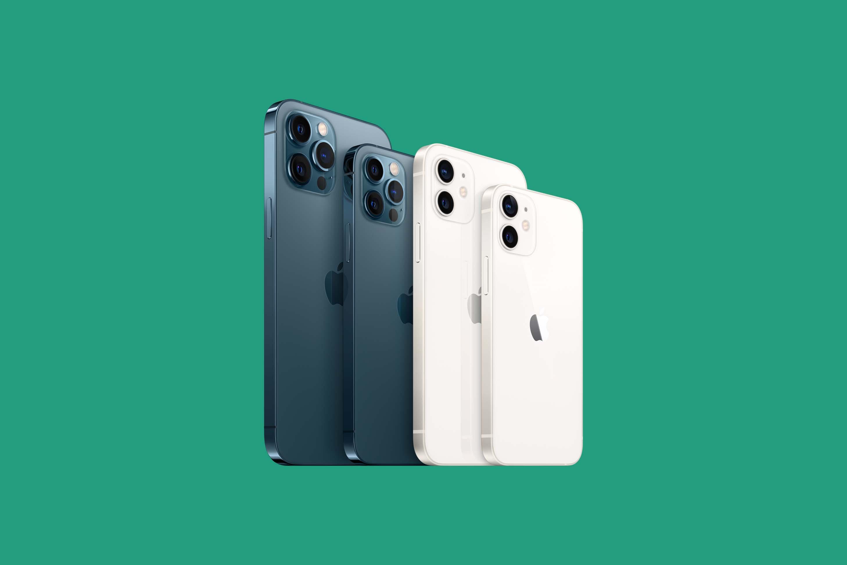 Bild på iPhone-familjen
